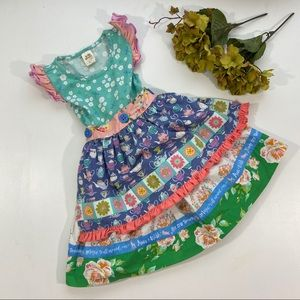Wildflowers Teacups With Apron Dress - 4 Years
